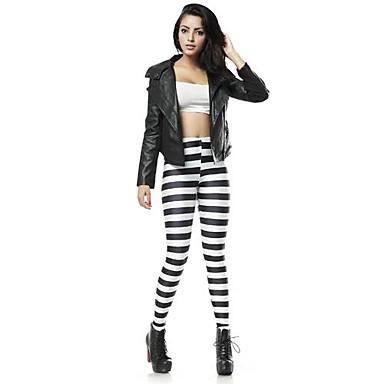 Atractiva de las mujeres flacas negras rayas horizontales - Rayas horizontales ...