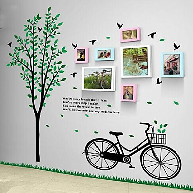 2 Colors Photo FrameSet of 7 with Wall Sticker
