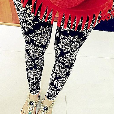 Women's Boho Vintage Black Milk Totem Pattern Leggings