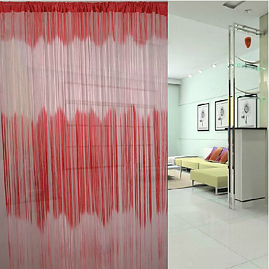 "(39""W * 117""L) Country Classic Gradient Ramp Pattern Curtain Line - 4 Colors ..."