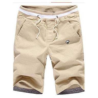 Men's Casual Blue Khaki Cotton Shorts