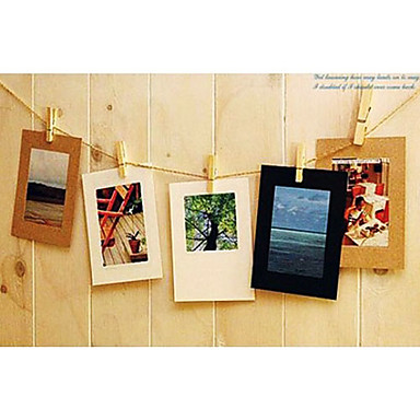 """3 """" x 3 """" Simple Style Craft Paper Hanging Picture Frame, Set of 10"""