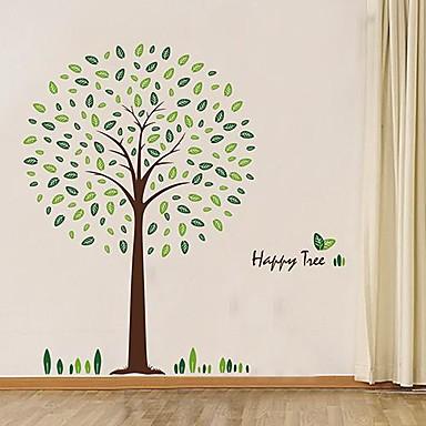 Createforlife ® pieno di foglie verdi degli alberi per bambini Camera dei bambini Adesivi per ...