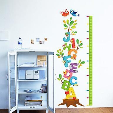 Createforlife alphabet letters tree height chart kids for Alphabet mural nursery