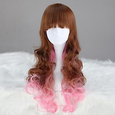 Buy Multi-color Long Wavy Synthetic Punk Lolita Wig