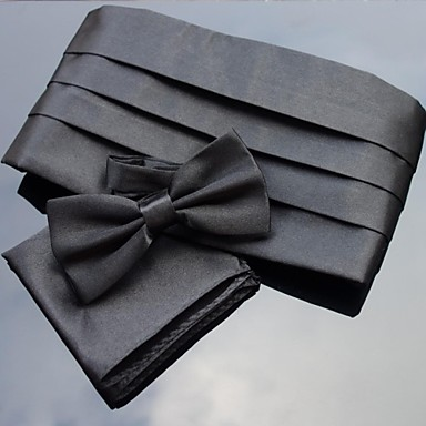Men's Polyester Bow Tie,Party Solid All Seasons
