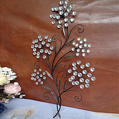 Metal Wall Art Wall Decor Crystal Flower Decor 1839180