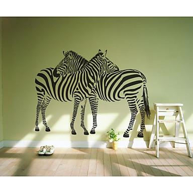jiubai love zebra home decoration wall sticker wall decal