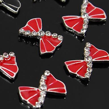 10pcs arc rouge accessoires en alliage de strass pour le for Accessoire deco rouge