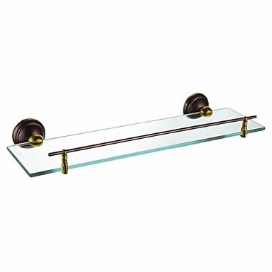 Buy Contemporary Oil Rubbed Bronze Finish Glass Shelf Rail