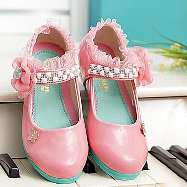 Meisje comfort ronde teen platte schoenen roze koraal 2033283 2017 - Kleine teen indelingen meisje ...