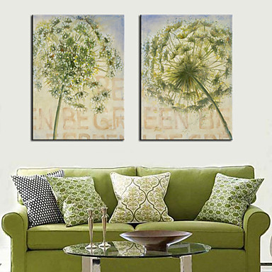 Buy Stretched Canvas Art Flower Beautiful Dandelion Set 2