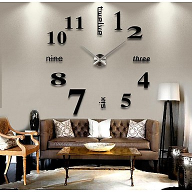 "39""W DIY 3D Sticker Wall Clock"