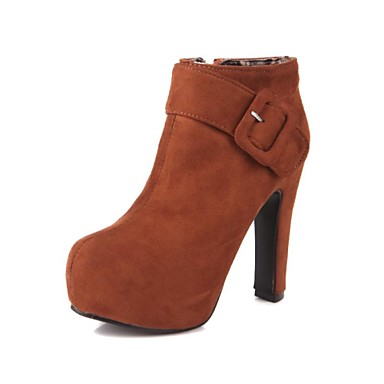 femme chaussures similicuir printemps hiver gros talon. Black Bedroom Furniture Sets. Home Design Ideas