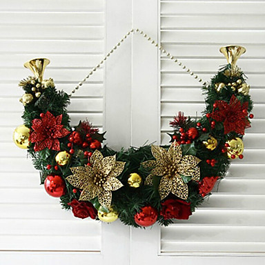 Media luna de decoraci n de navidad en forma de - Decoracion de guirnaldas ...