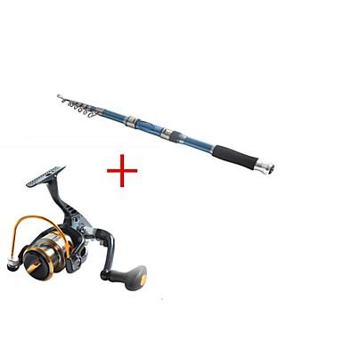 Telespin rod fishing rod reel fishing rod telespin for Blue fishing rod