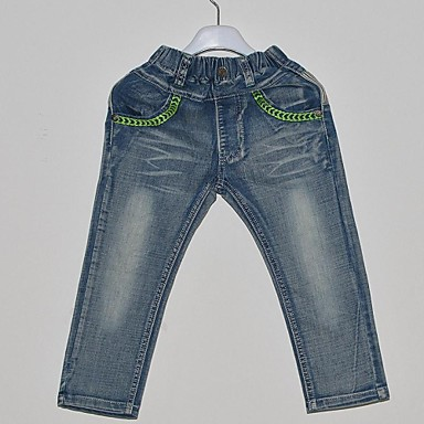 Boy's Denim Jeans,All Seasons Solid