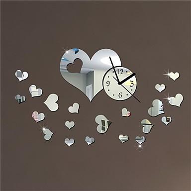 20 decoraci n amor h estilo moderno corazones boda diy - Reloj de pared adhesivo ...