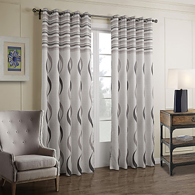 Two panels curtain baroque bedroom polyester material for Decoration fenetre ikea