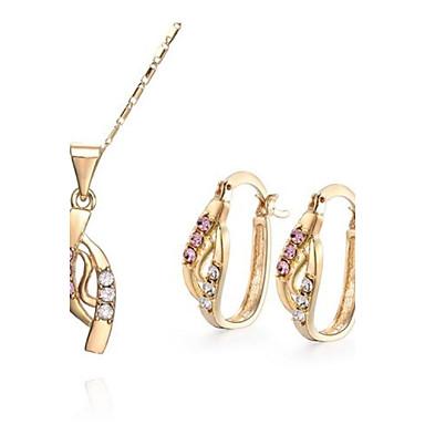 Elegant Women CutePartyCasual NecklacesEarringsRings Jewelry Set 3034999