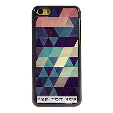 Buy Personalized Phone Case - Colorful Triangle Design Metal iPhone 5C