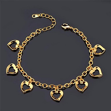 U7® Love Charm Braclet 18K Real Gold Platinum Plated Romantic Bracelet Fashion Jewelry