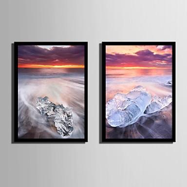 Buy Landscape Framed Canvas / Set Wall Art,PVC Black Mat Frame Art