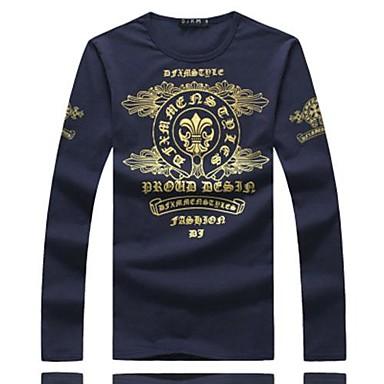 le printemps autour du cou manches longues chemise d 39 impression sur t shirts pour hommes de. Black Bedroom Furniture Sets. Home Design Ideas