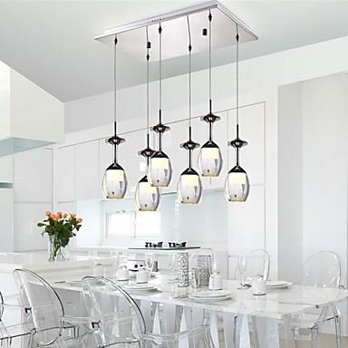 Putian ny design 6 lampor 18w moderna ledde h ngande for Plafonnier pour salle a manger