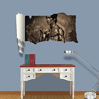 3d decalcomanie adesivi murali della parete bruce lee for Adesivi da parete 3d