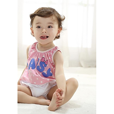 Girl's Cute Summer Pink Sleevelss Overalls