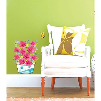 Etiquetas engomadas de la pared de la pared 3d pvc flor for Pegatinas 3d pared