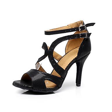 Chaussures de danse noir personnalisables talon aiguille similicuir latine salsa salon de - Salon talon aiguille lausanne ...