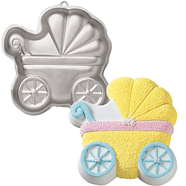 3D Baby Carriage Mold Candy Chocolate Cake Pan Cutter ...