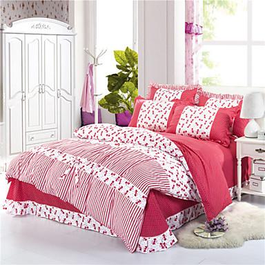 fleur coton soie 4 pi ces ensembles housse de couette de 3161637 2016. Black Bedroom Furniture Sets. Home Design Ideas