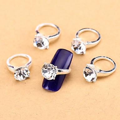 new 10pcs clear nail art jewelry pinkie nail tips ring