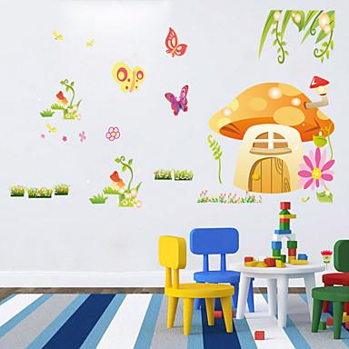 murali Stickers adesivi murali, wall stickers casa dei funghi in pvc del 3024916 2016 a $9.99