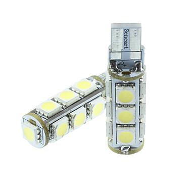 Buy T10 149 W5W 3.5W Blue/Red/Warm White/Green/Yellow/White 13X5050SMD LED 140LM Car Light Bulb (DC12-16V)