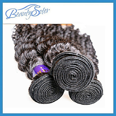Buy Peruvian Virgin Hair Kinky Curly 10 inch~28 inchGrade 6A Unprocessed Human Extensions Color1B