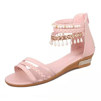 chaussures femme habill bleu rose beige talon compens compens es a bride arri re. Black Bedroom Furniture Sets. Home Design Ideas