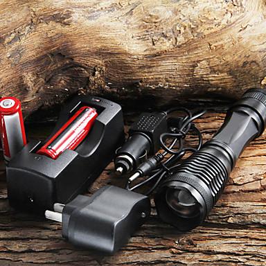 LED Flashlights / Handheld Flashlights LED 5 Mode 1800/2000/2200 Lumens Cree XM-L T6 18650Camping/Hiking/Caving / Everyday Use / Cycling
