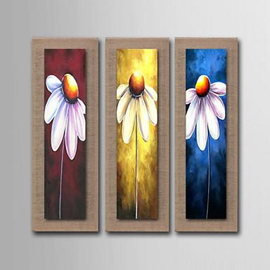 Peinture l 39 huile d coration fleurs abstraites peintes for Peinture lin naturel