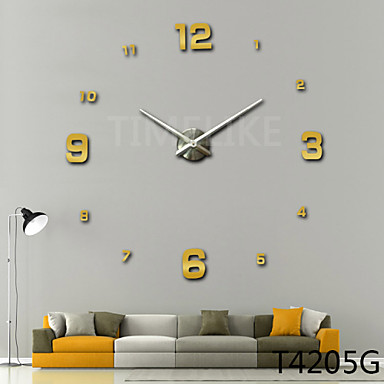 Buy 3D New Fashion Design Large Wall Clock Home Decor Diy