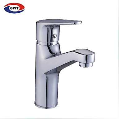 Contemporary Solid Brass Bathroom Sink Faucet Chrome Finish 3725780 2017