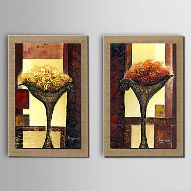 Aceite de flor de la decoraci n de pintura pintada a mano for Pintura color lino