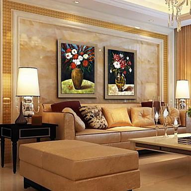 lgem lde moderne abstrakte blume hand gemalte naturleinen. Black Bedroom Furniture Sets. Home Design Ideas