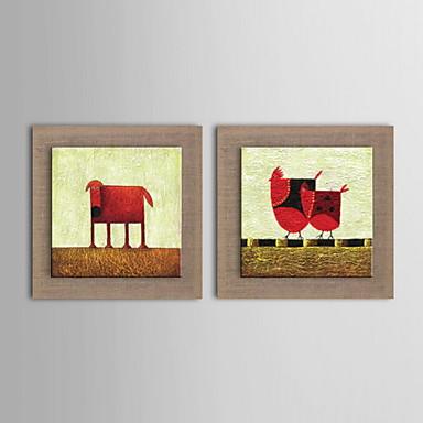Pintura al leo moderna mano de animales abstracto pintado for Pintura color lino
