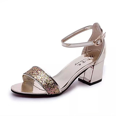 s shoes chunky heel open toe sandals dress silver