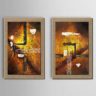 Peinture l 39 huile abstraite main la d coration peinte lin for Peinture lin naturel