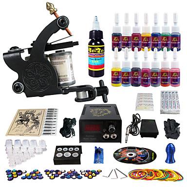 Solong tattoo complete tattoo kit 1 pro machine guns 14 for Starter tattoo kits